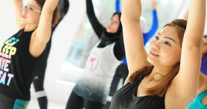 en flad mave betyder træning og motion